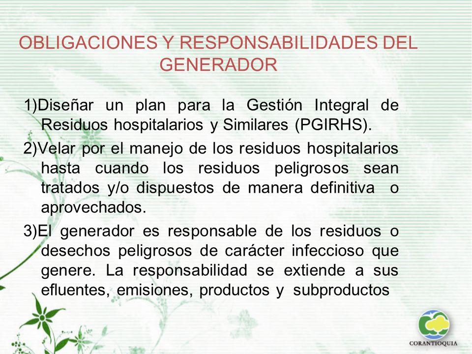 OBLIGACIONES Y RESPONSABILIDADES DEL GENERADOR