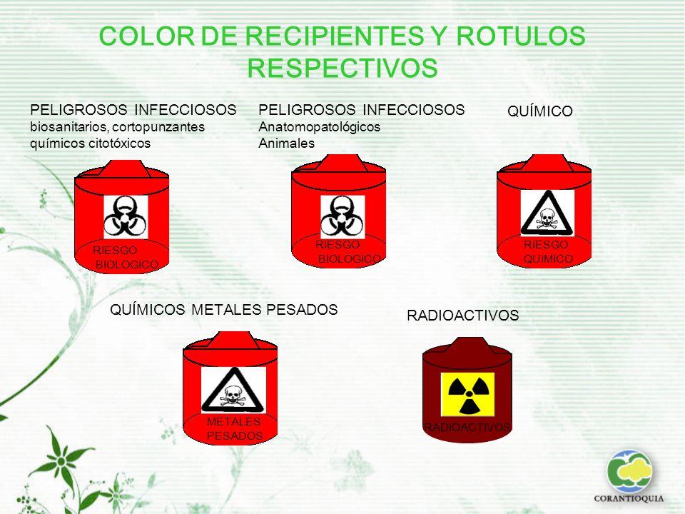 COLOR DE RECIPIENTES Y ROTULOS RESPECTIVOS
