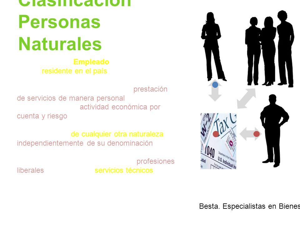 Clasificación Personas Naturales