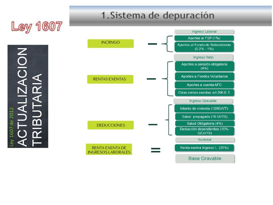 1.Sistema de depuración Ley 1607