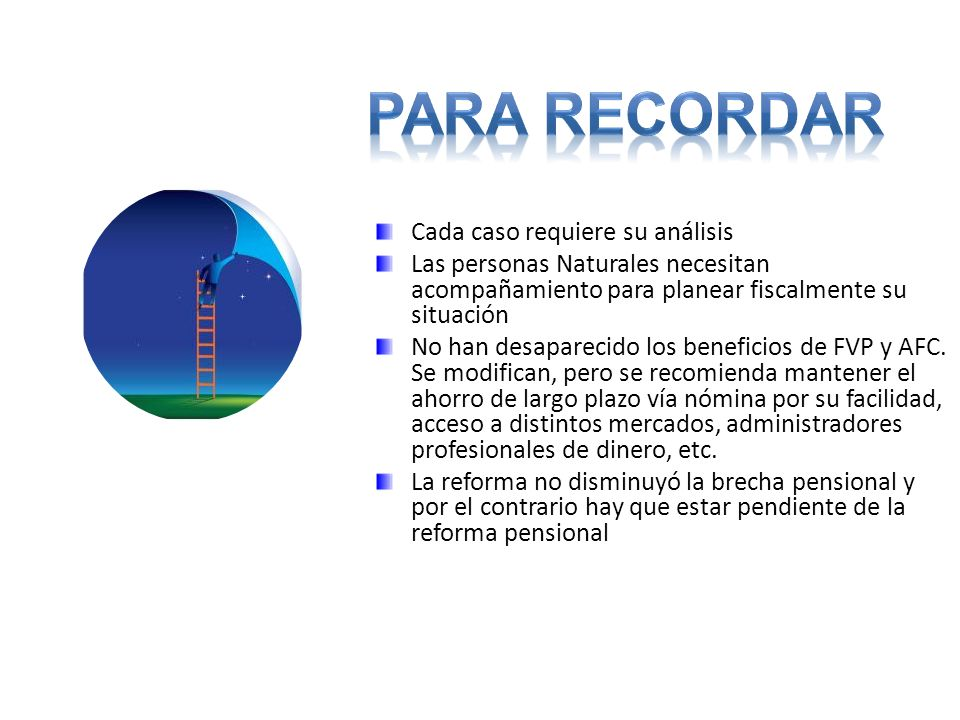 Para ReCORDAR Cada caso requiere su análisis