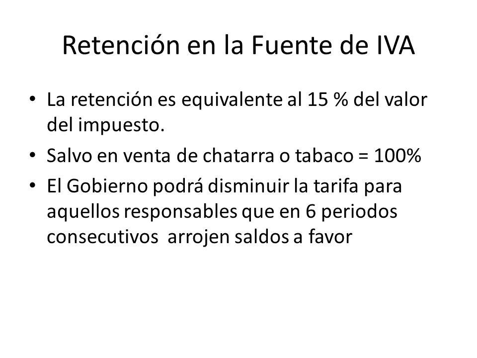 Retención en la Fuente de IVA
