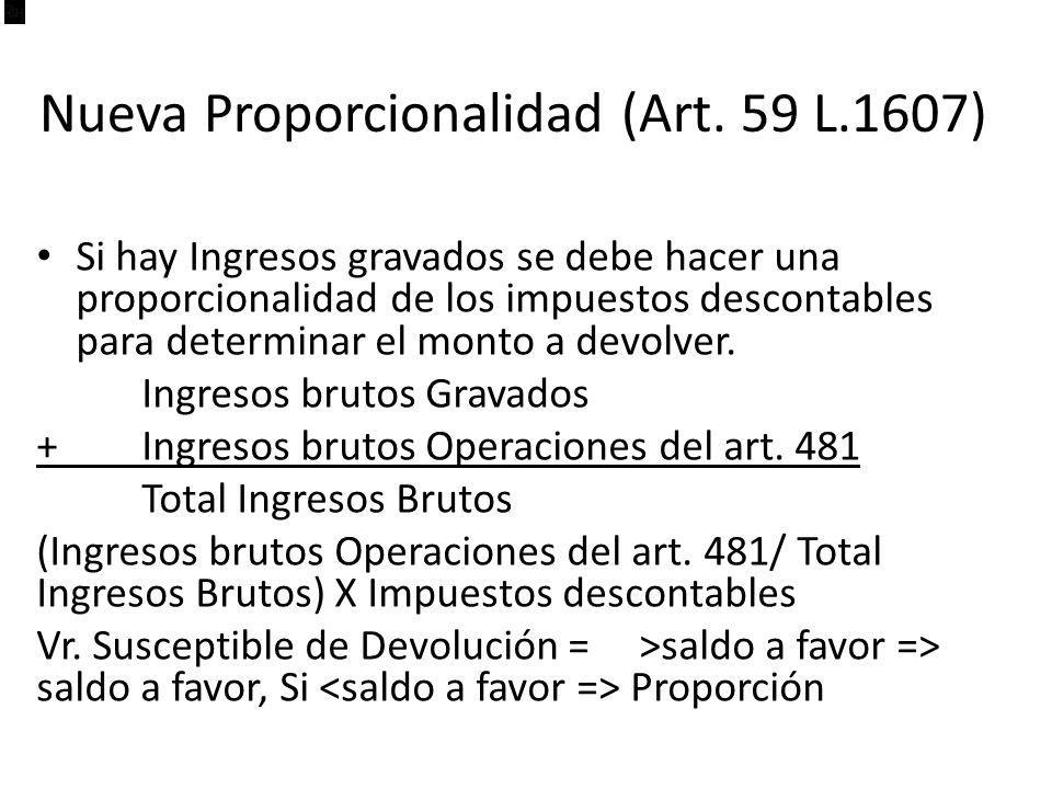 Nueva Proporcionalidad (Art. 59 L.1607)