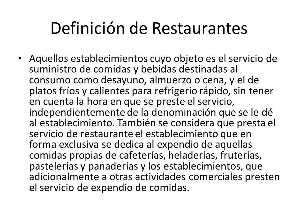 Definición de Restaurantes