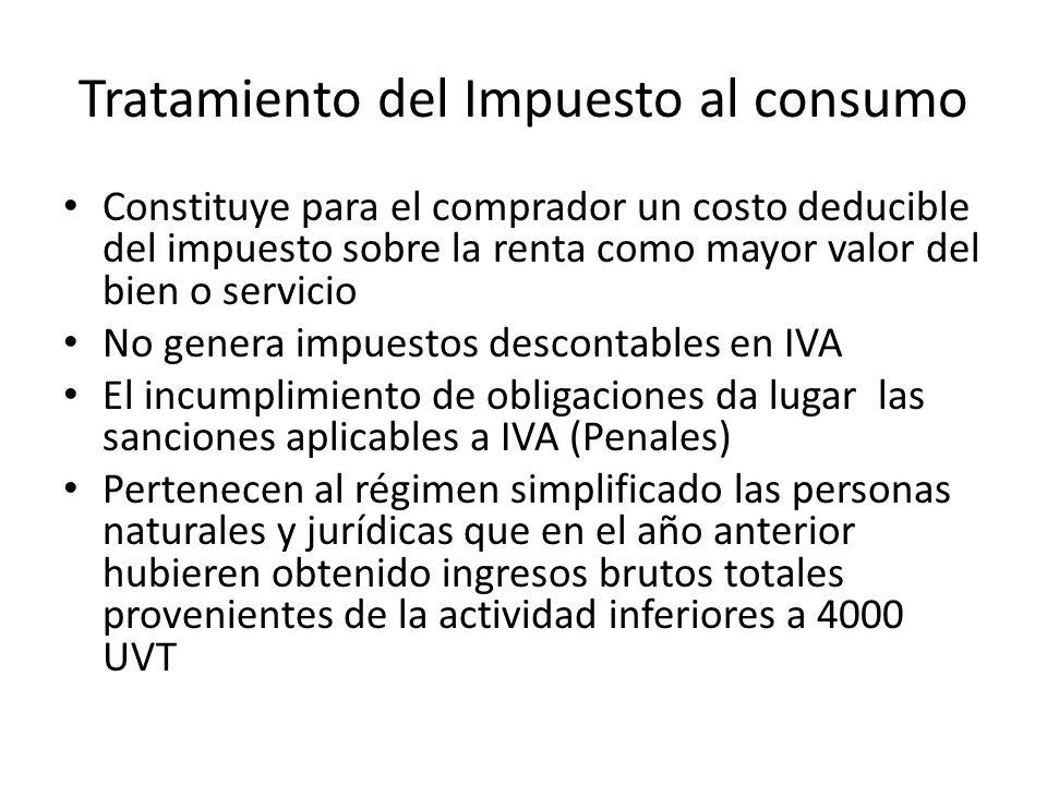Tratamiento del Impuesto al consumo
