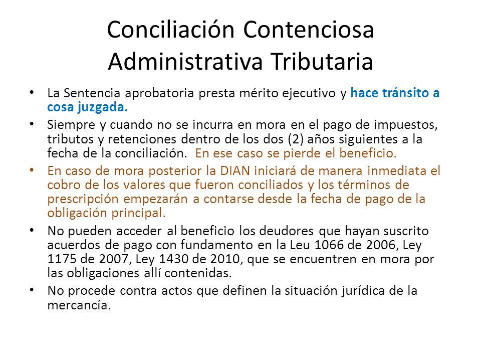 Conciliación Contenciosa Administrativa Tributaria