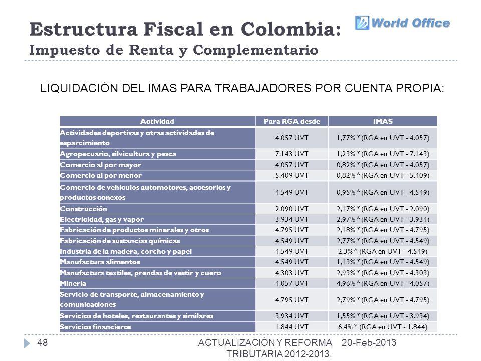 Estructura Fiscal en Colombia: Impuesto de Renta y Complementario