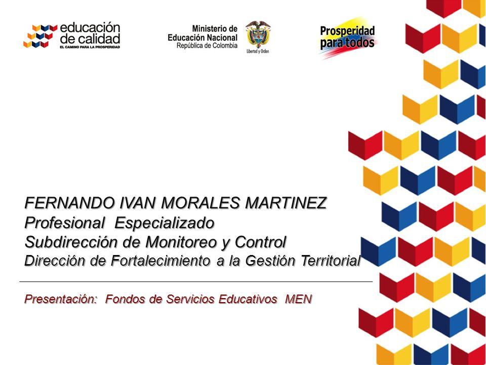 FERNANDO IVAN MORALES MARTINEZ Profesional Especializado