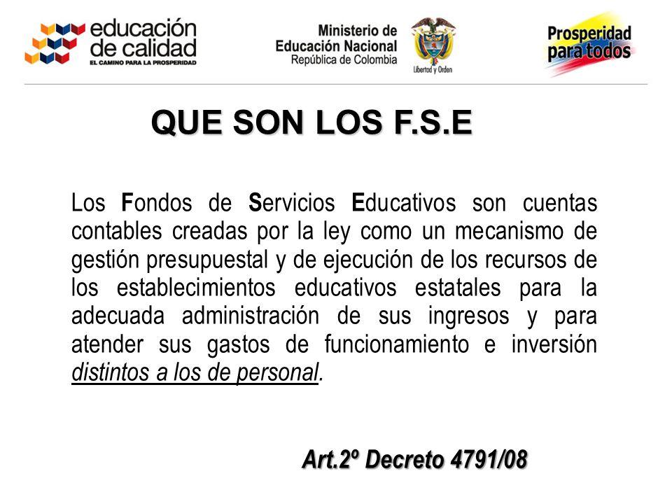 QUE SON LOS F.S.E Art.2º Decreto 4791/08
