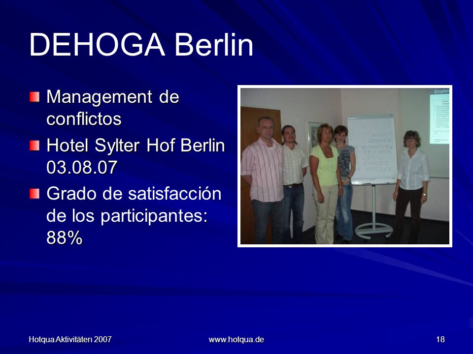 DEHOGA Berlin Management de conflictos