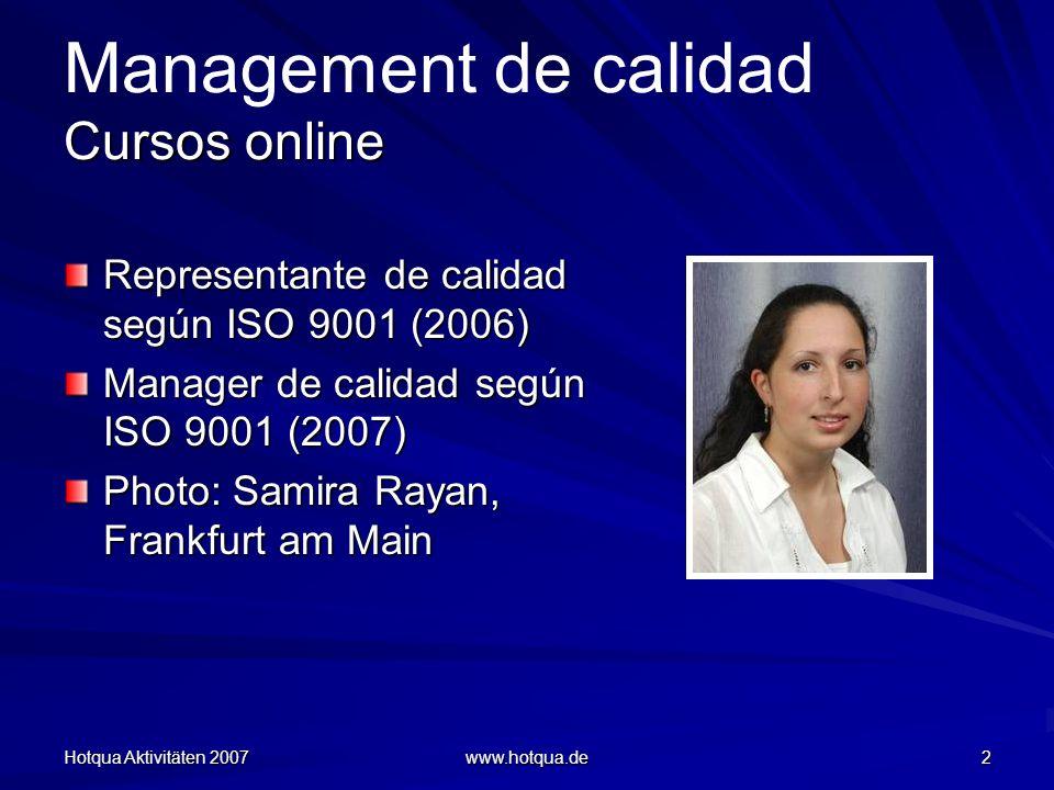 Management de calidad Cursos online