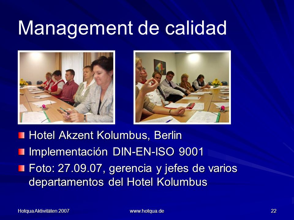 Management de calidad Hotel Akzent Kolumbus, Berlin
