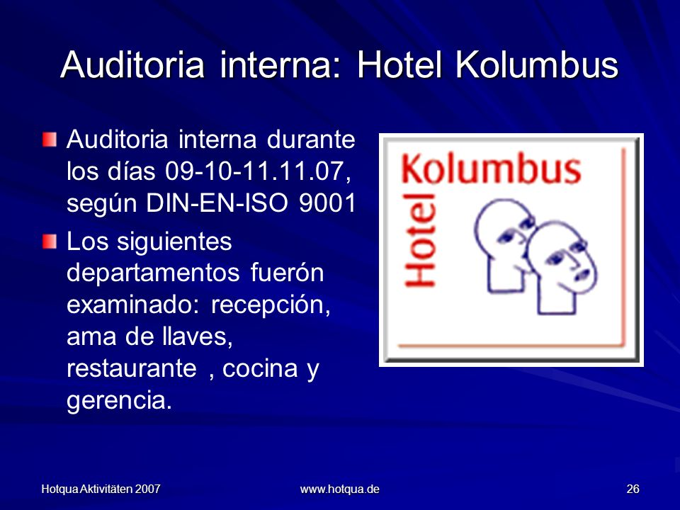 Auditoria interna: Hotel Kolumbus