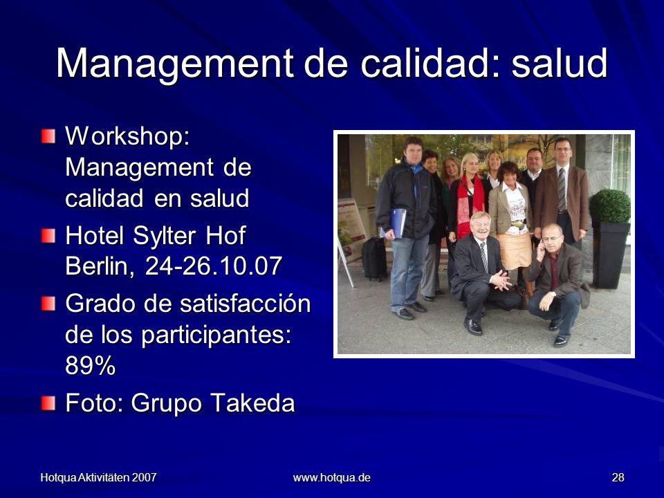 Management de calidad: salud