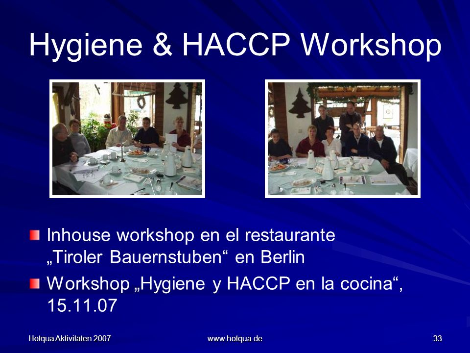 Hygiene & HACCP Workshop