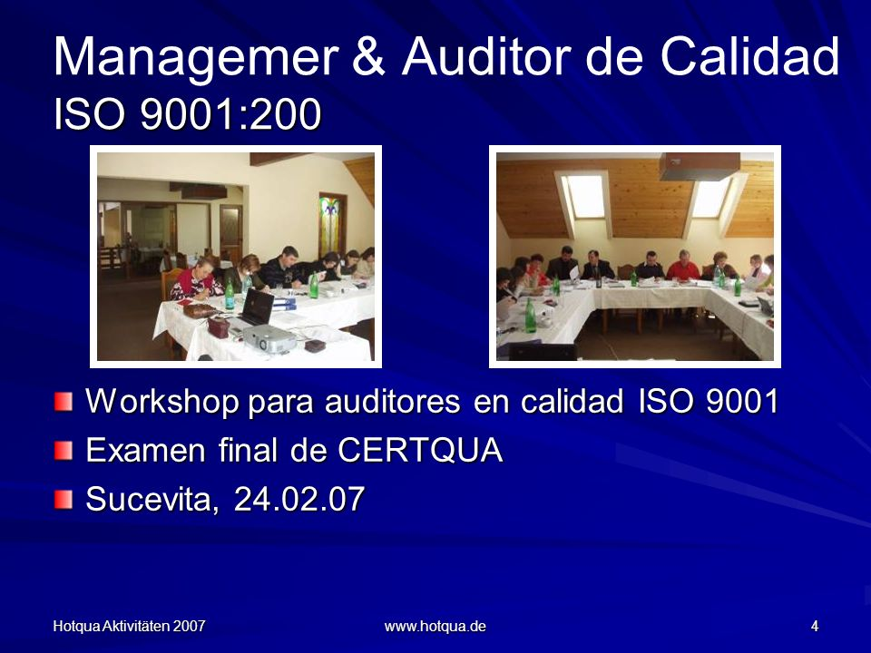 Managemer & Auditor de Calidad ISO 9001:200