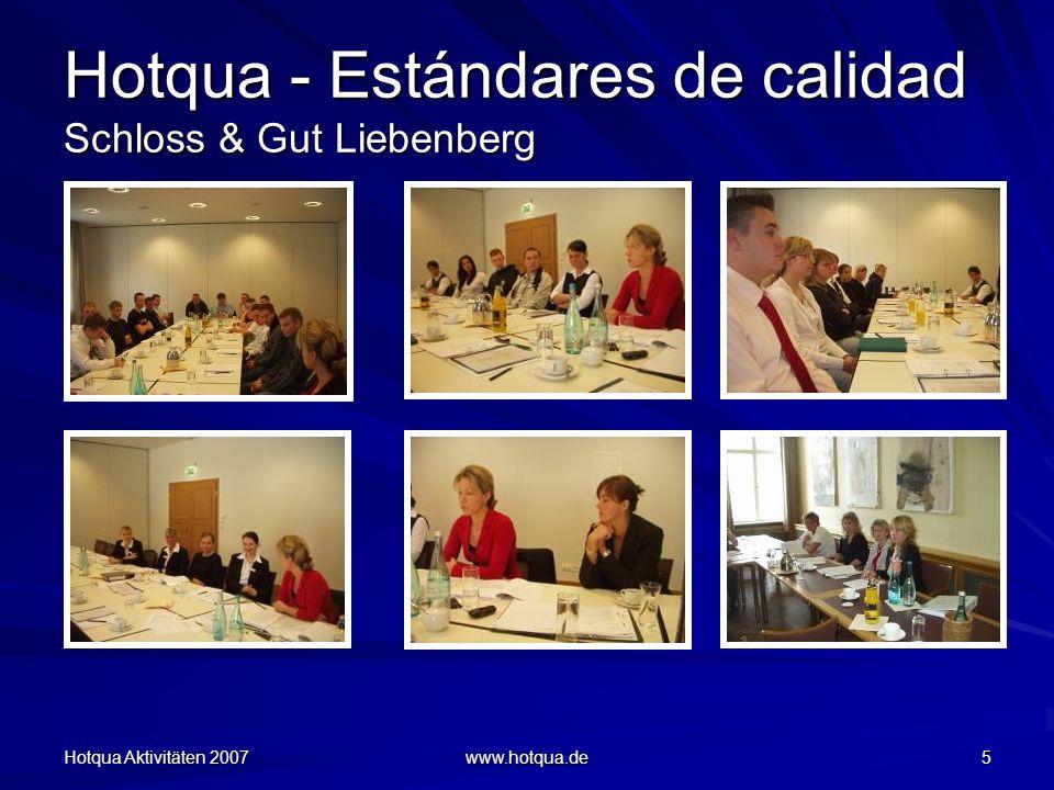 Hotqua - Estándares de calidad Schloss & Gut Liebenberg