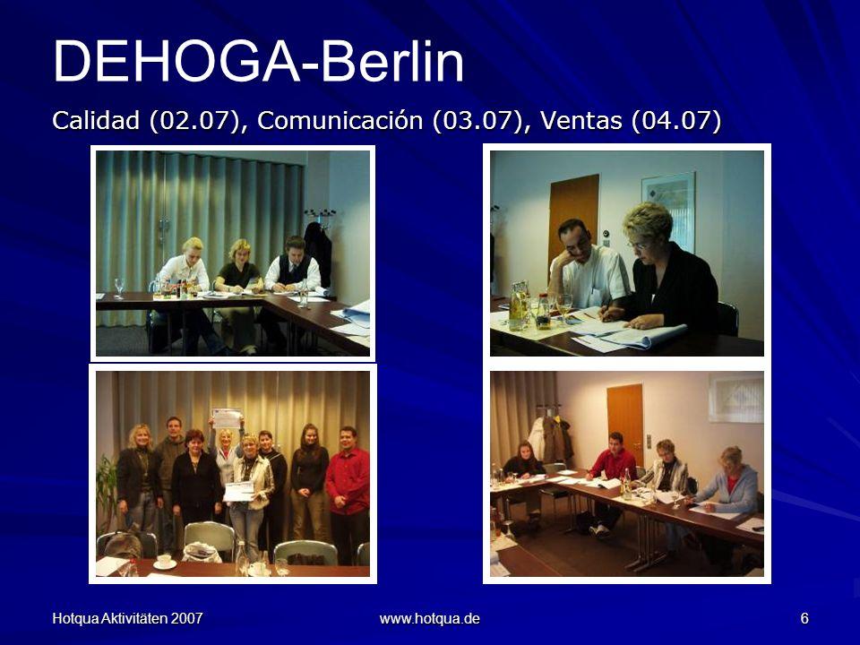 DEHOGA-Berlin Calidad (02.07), Comunicación (03.07), Ventas (04.07)