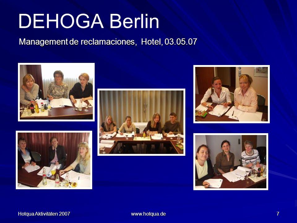 DEHOGA Berlin Management de reclamaciones, Hotel, 03.05.07