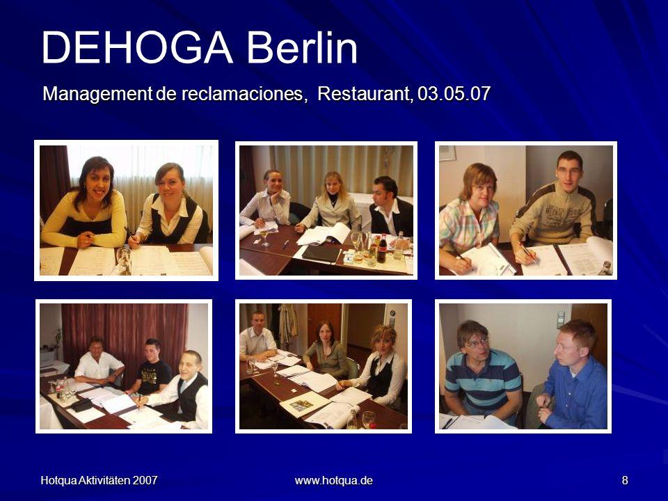 DEHOGA Berlin Management de reclamaciones, Restaurant, 03.05.07