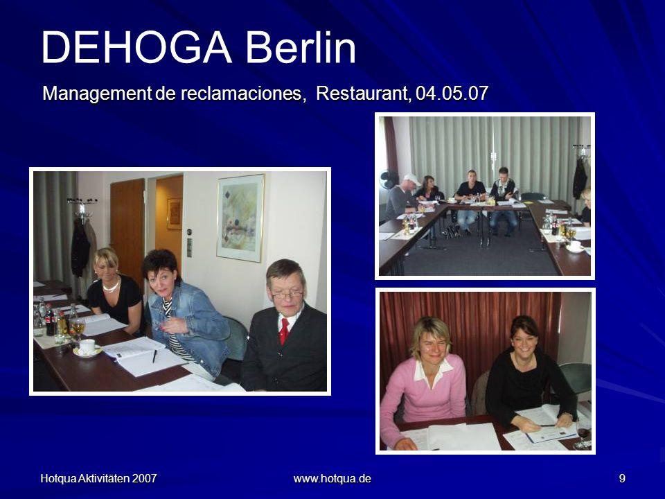 DEHOGA Berlin Management de reclamaciones, Restaurant, 04.05.07