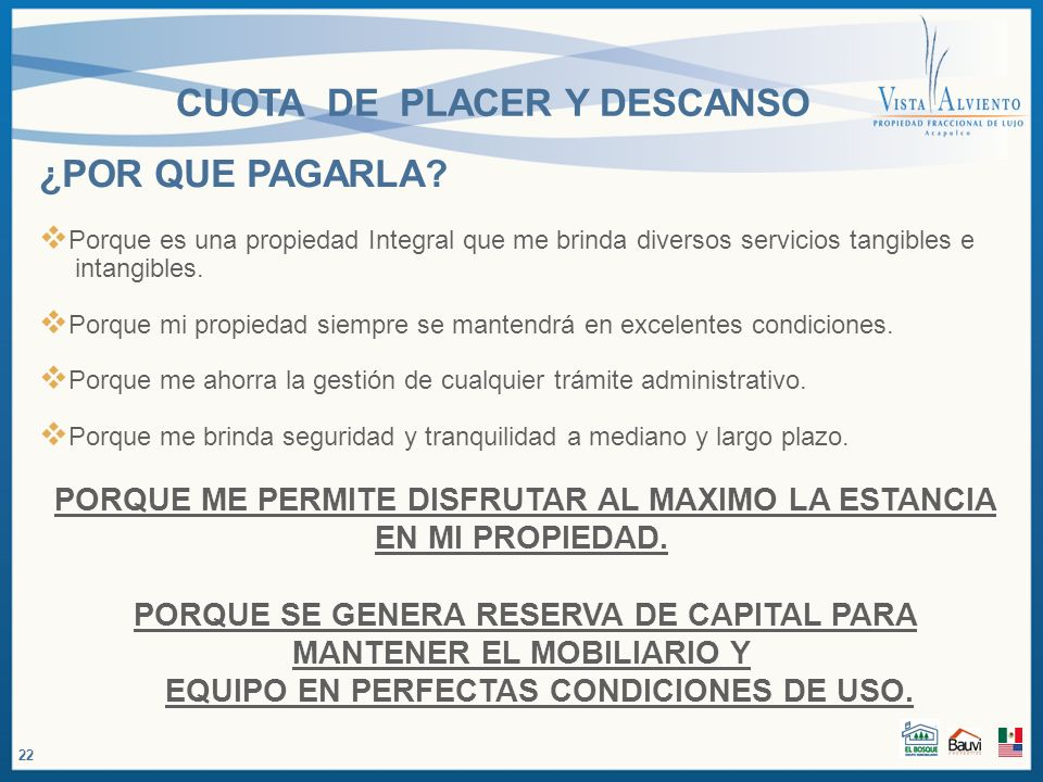 CUOTA DE PLACER Y DESCANSO PROPIEDAD TRADICIONAL