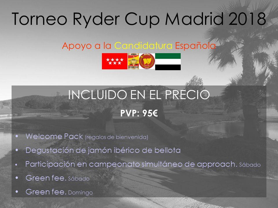 Torneo Ryder Cup Madrid 2018