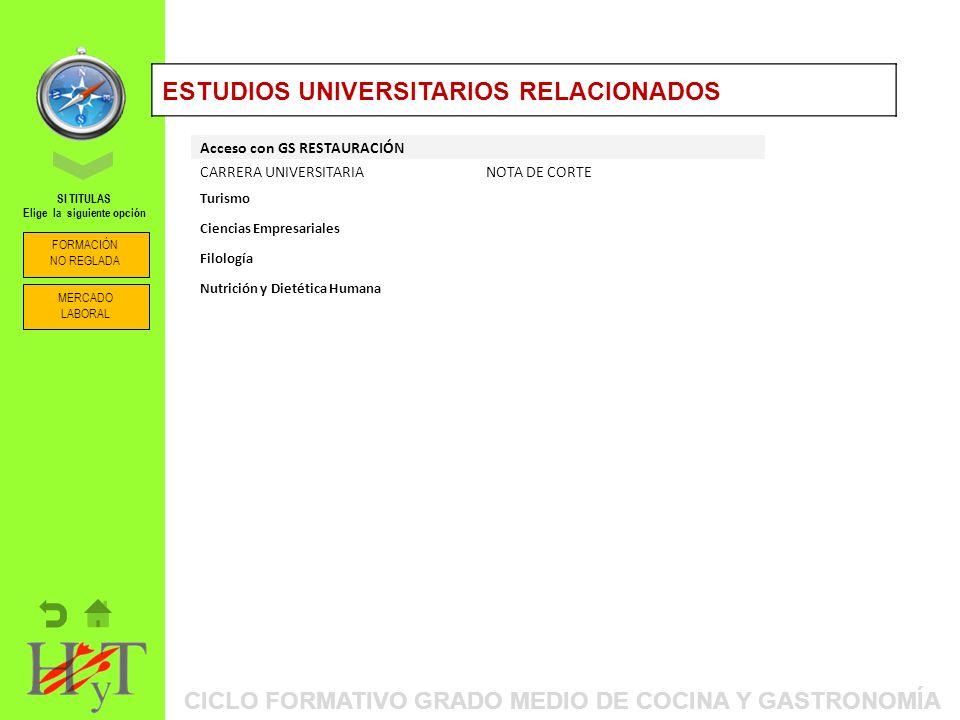 ESTUDIOS UNIVERSITARIOS RELACIONADOS