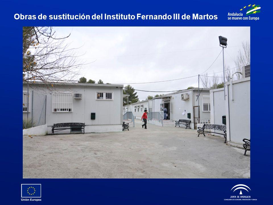 Obras de sustitución del Instituto Fernando III de Martos