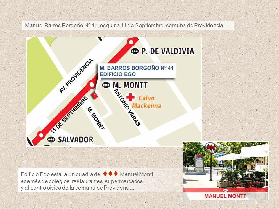 Manuel Barros Borgoño Nº 41, esquina 11 de Septiembre, comuna de Providencia