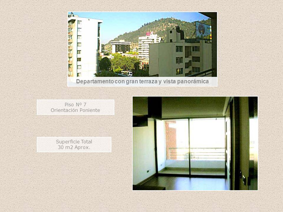 Departamento con gran terraza y vista panorámica