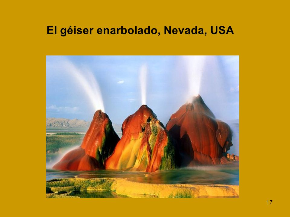 El géiser enarbolado, Nevada, USA