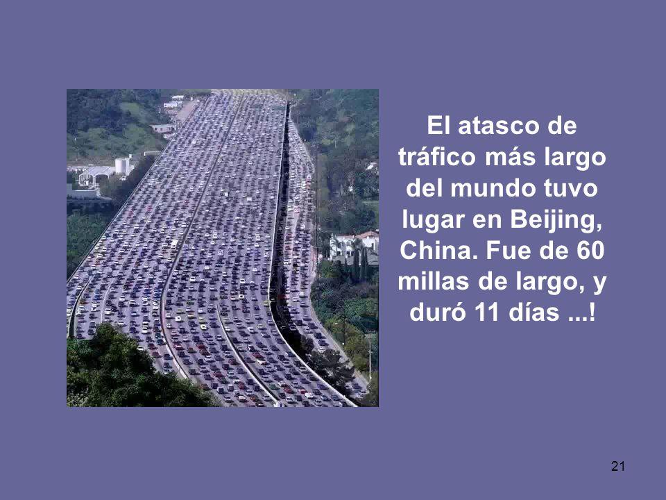 El atasco de tráfico más largo del mundo tuvo lugar en Beijing, China