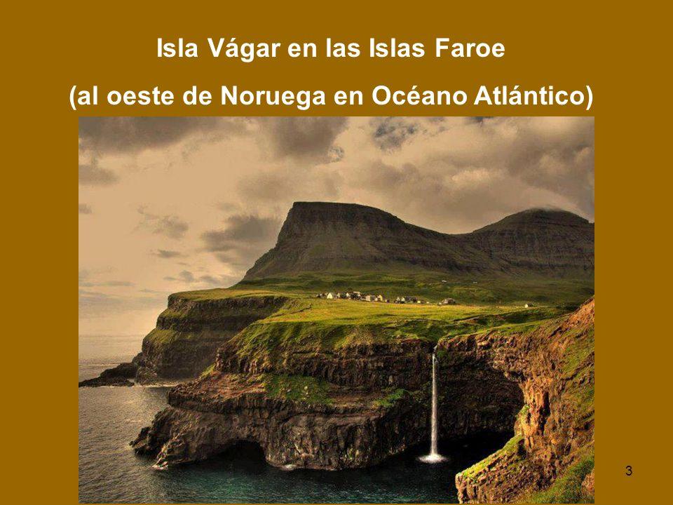 Isla Vágar en las Islas Faroe