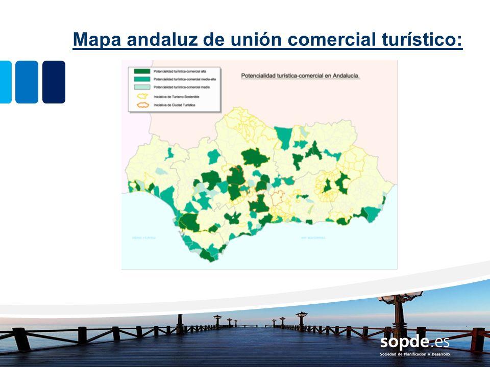 Mapa andaluz de unión comercial turístico: