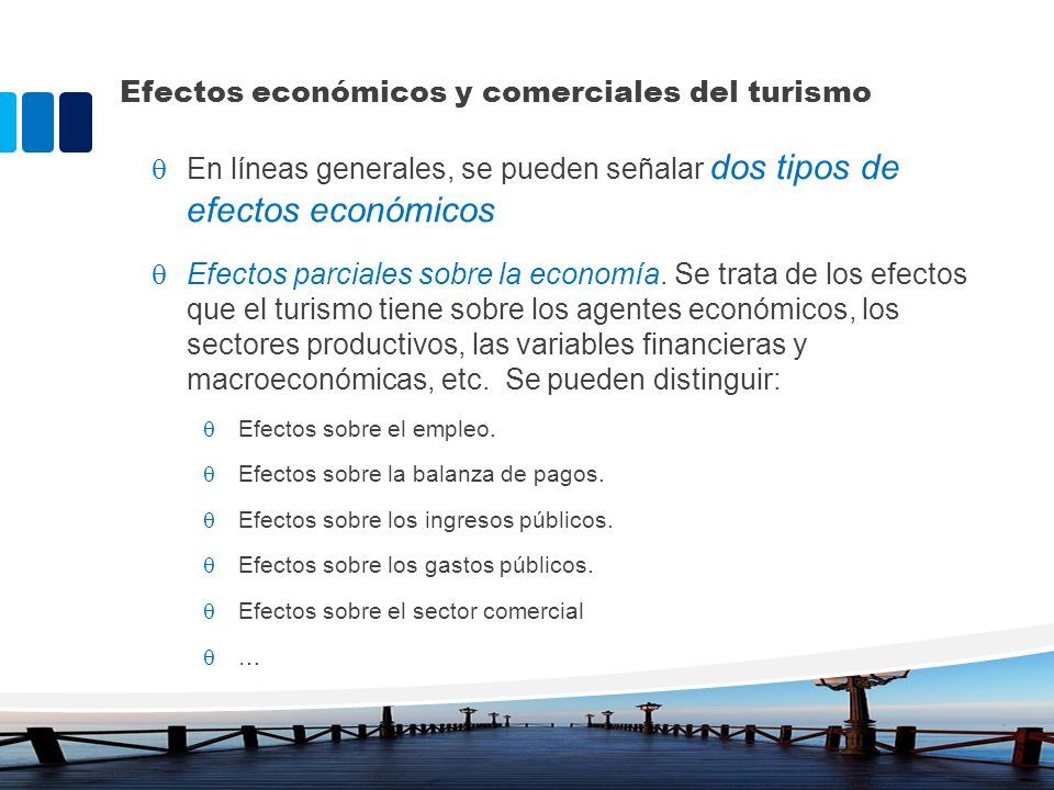 Efectos económicos y comerciales del turismo
