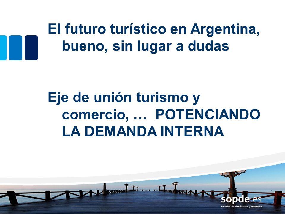 El futuro turístico en Argentina, bueno, sin lugar a dudas