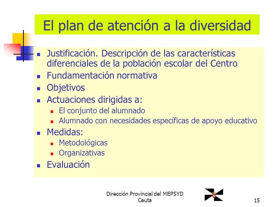 El plan de atención a la diversidad