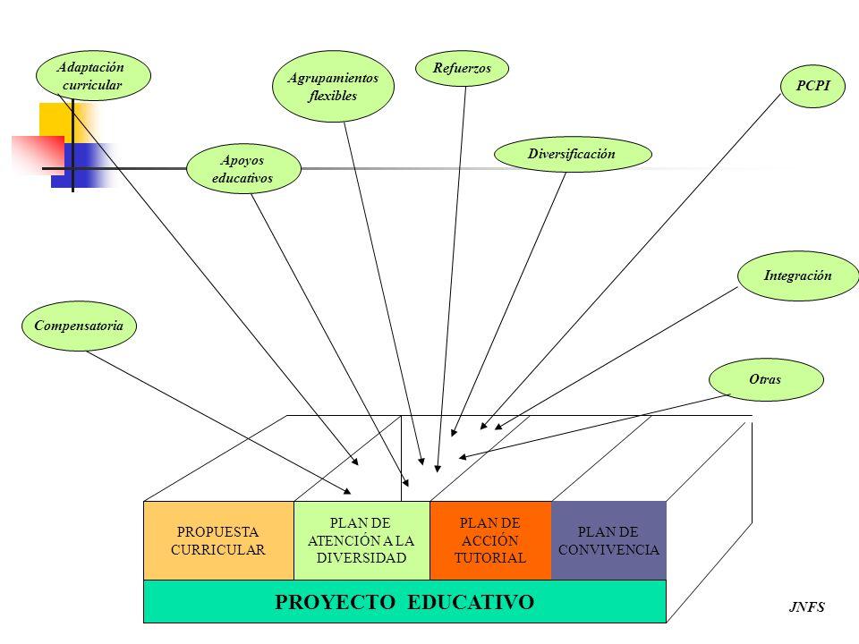 PROYECTO EDUCATIVO Adaptación curricular Agrupamientos flexibles