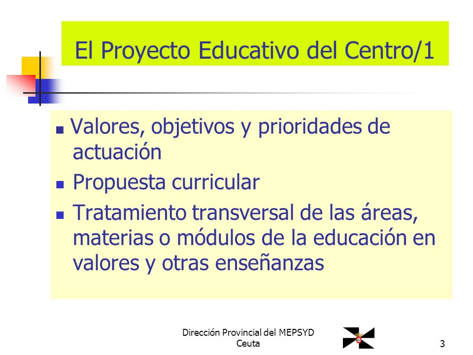 El Proyecto Educativo del Centro/1