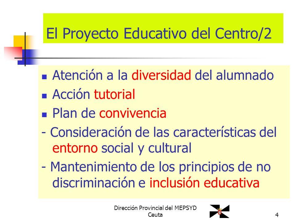 El Proyecto Educativo del Centro/2