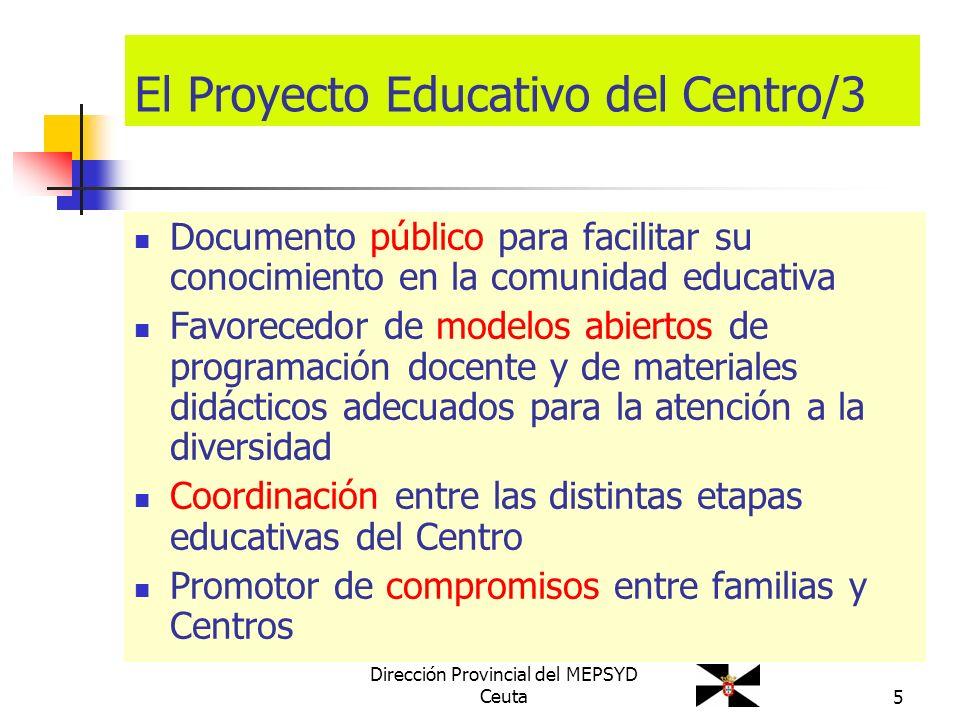 El Proyecto Educativo del Centro/3