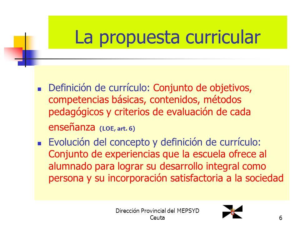 La propuesta curricular