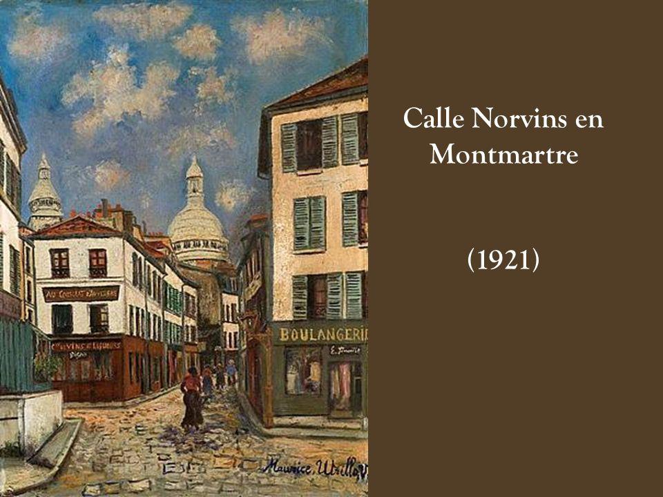 Calle Norvins en Montmartre