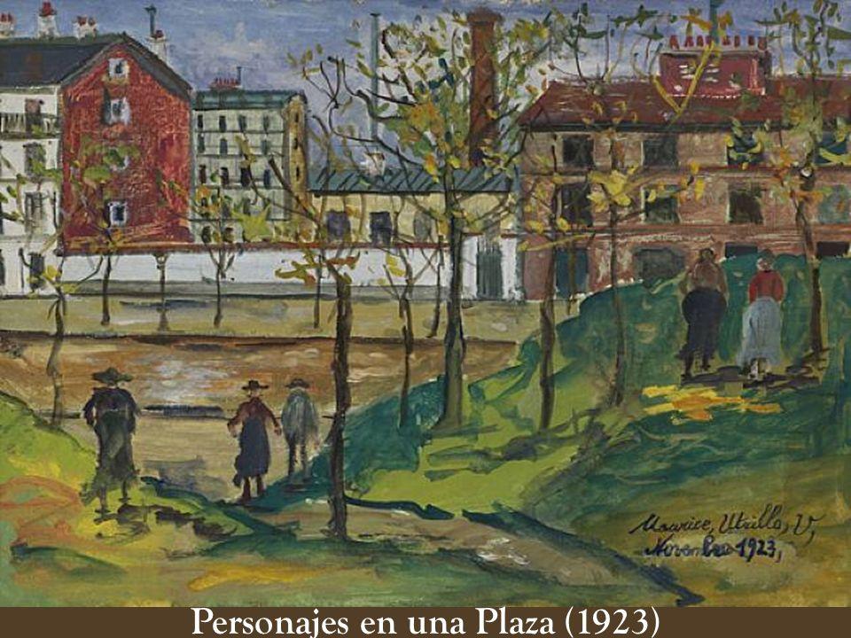 Personajes en una Plaza (1923)