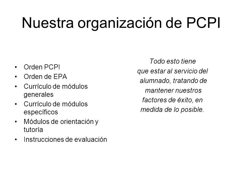 Nuestra organización de PCPI