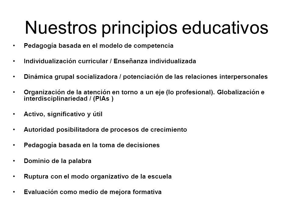 Nuestros principios educativos