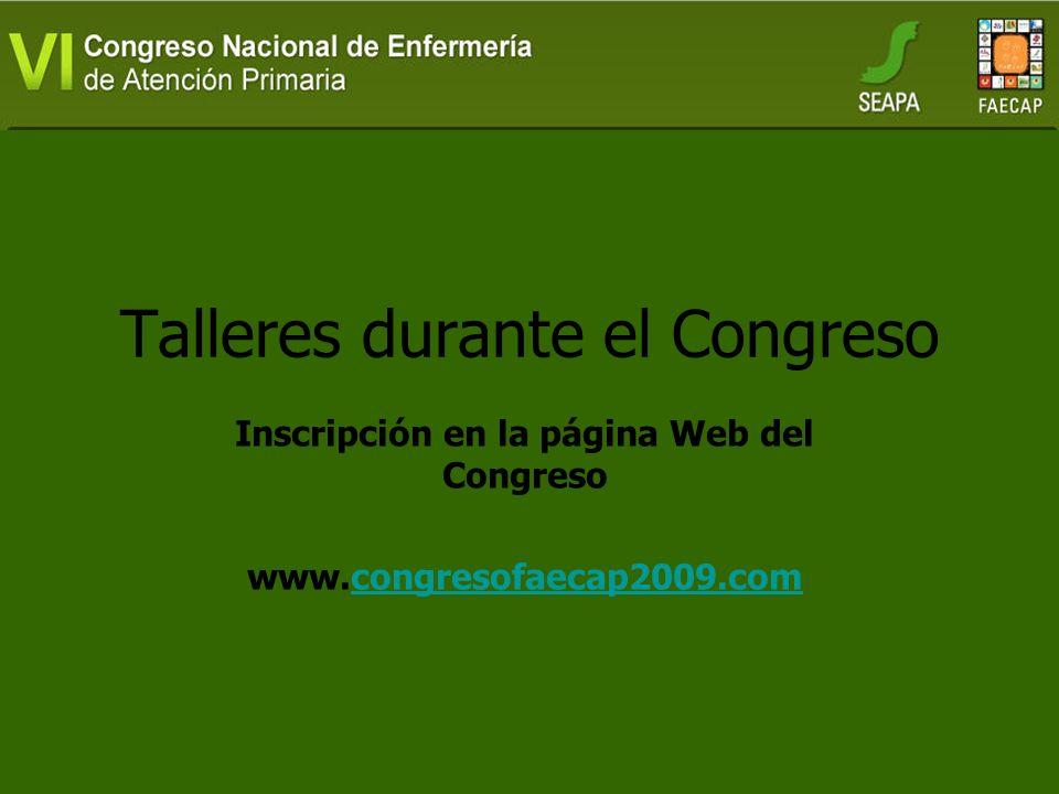 Talleres durante el Congreso
