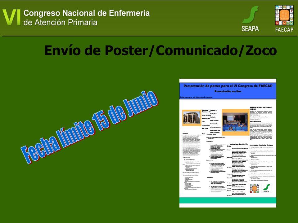 Envío de Poster/Comunicado/Zoco