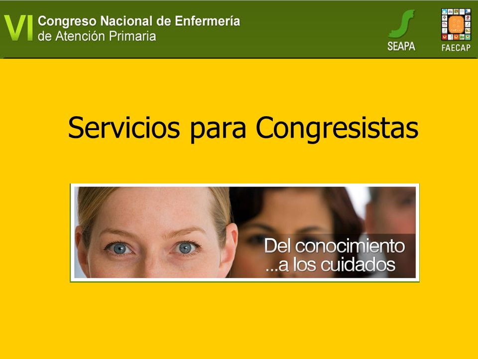 Servicios para Congresistas